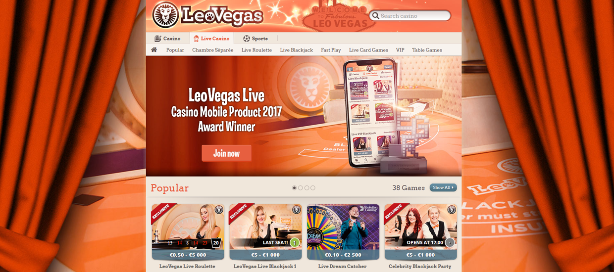 Play at LeoVegas Casino
