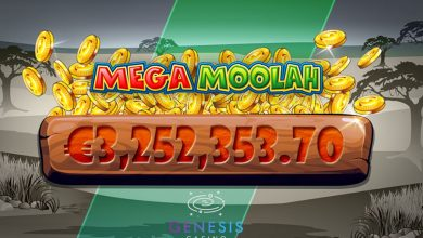 Photo of Mega Moolah Jackpot winner at Genesis Casino