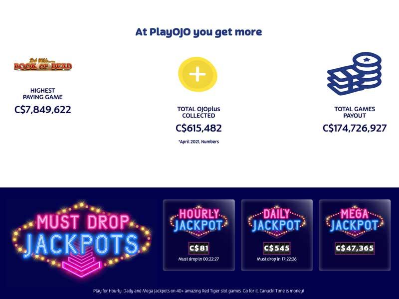 Playojo Jackpot games