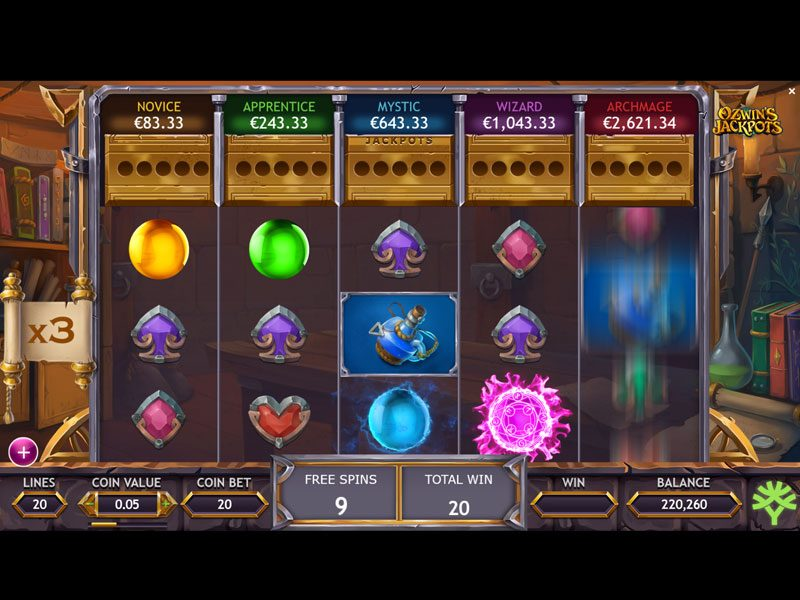 Ozwins-Jackpot-free-spins-game